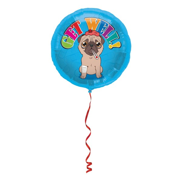 Folienballon Little Dog Get Well 45cm