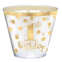 30 Goldstar 1st Birthday Becher 266ml