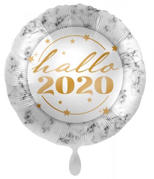 Hallo 2020 Silvester Folienballon 45cm