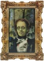 Hologramm Wandgemälde Lady Mary Zombie Portrait