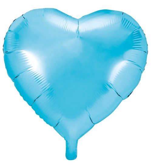 Herzilein foil balloon light blue 45cm