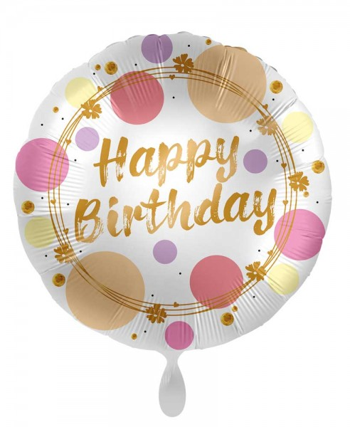 Birthday foil balloon Happy Dots 45cm