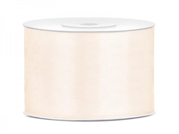 25m satin gift ribbon light cream 50mm