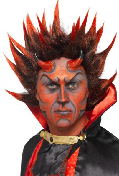 Höllen Rocktstar Teufels-Perücke Rot