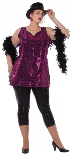 Glitzer Pailletten-Kleid Pink