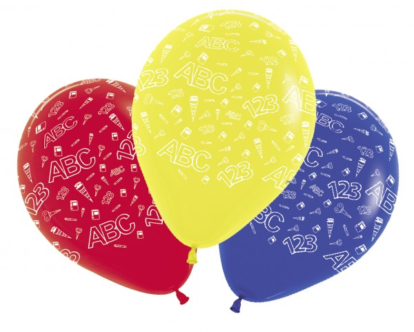 5 back to school balloons 30cm