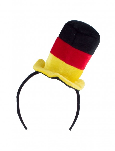 Haarreifen mit kleinem Deutschlandhut