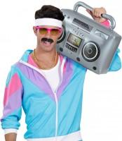Enregistreur à cassette gonflable radio des années 80