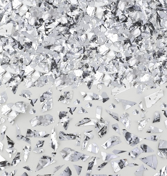 Glitter foil confetti silver 42g