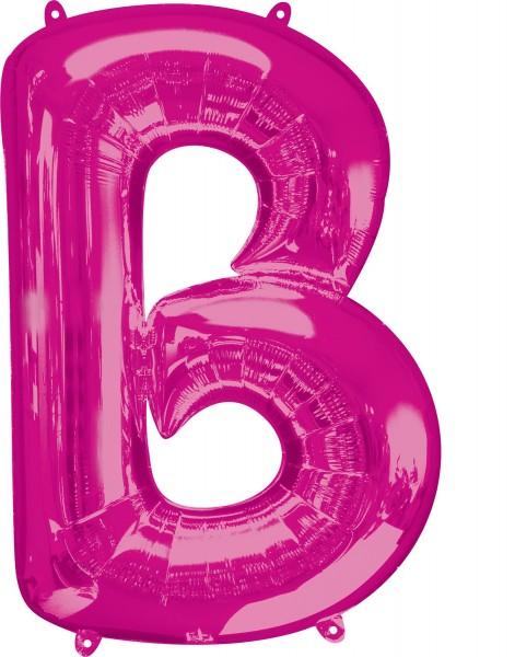 Folienballon Buchstabe B pink XL 86cm