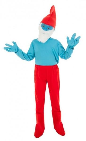 Papa Schlumpf Kostüm für Kinder
