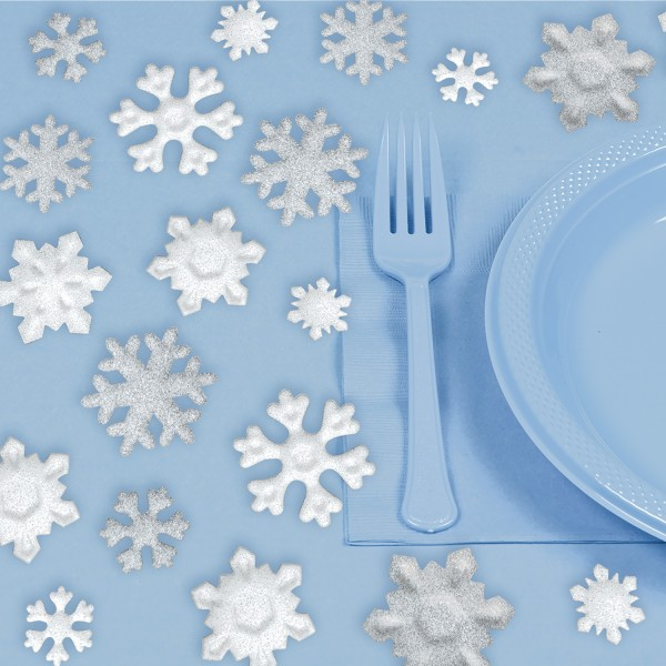 Snow crystal scatter decoration 20 pieces