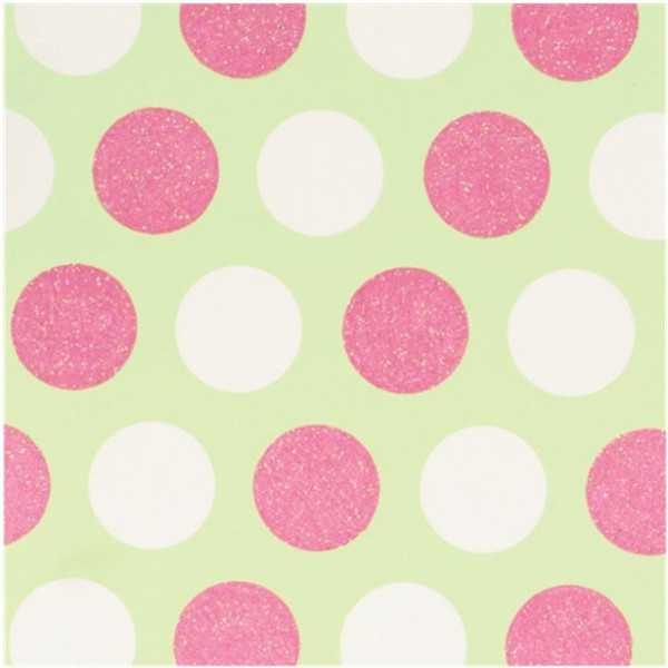 Wrapping paper glitter dots pastel