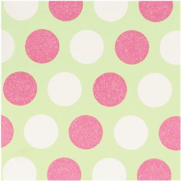Geschenkpapier Glitter Dots Pastell