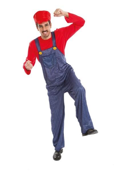 Game Racer Kostüm Rot Für Herren