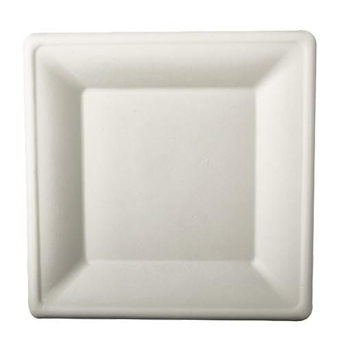50 sugar cane plates Aida white 26 x 26cm