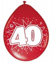 8 Lovely 40 years Luftballons 30cm