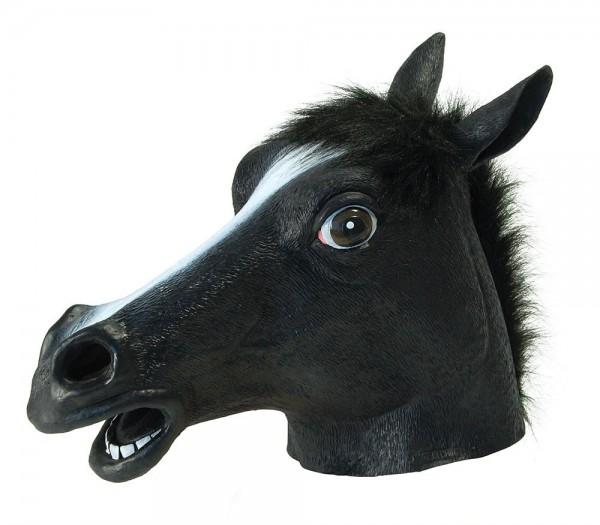 Schwarze Pferdekopf Amigo Vollmaske