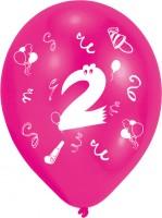 8 Verrückte Zahlen-Ballons 2.Geburtstag Bunt
