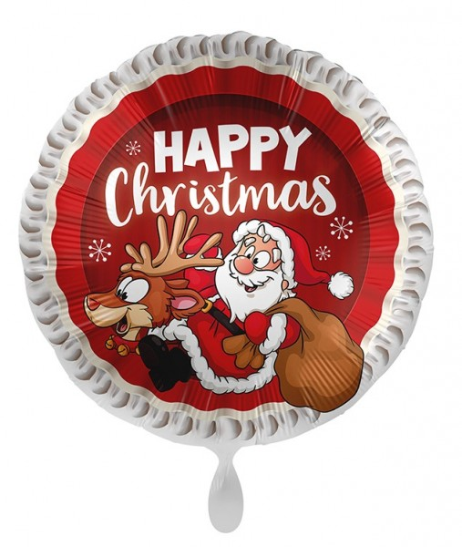 Ballon aluminium Joyeux Noël 45cm
