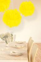 Pompon Elli neon gelb 30cm