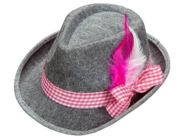 Grijze Oktoberfest traditionele hoed