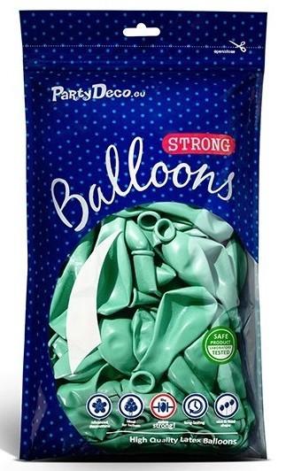 50 globos metalizados Partystar menta 27cm