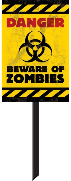 Zombie Town waarschuwingsbord 24,7 x 38cm