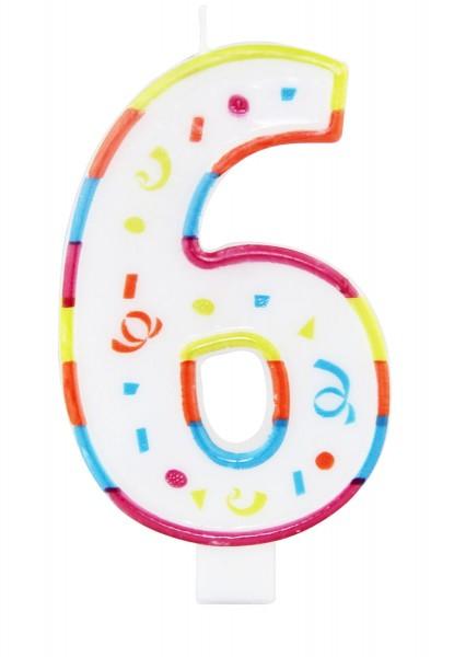 Vela de celebración número 6
