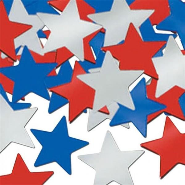 USA star confetti sprinkle decoration 28g