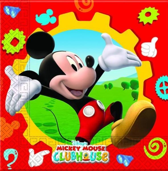 20 Mickey Mouse Clubhaus Servietten 33cm