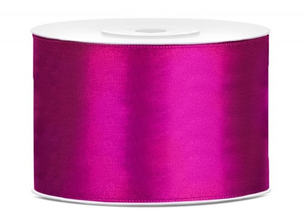 25m satin ribbon fuchsia 5cm wide