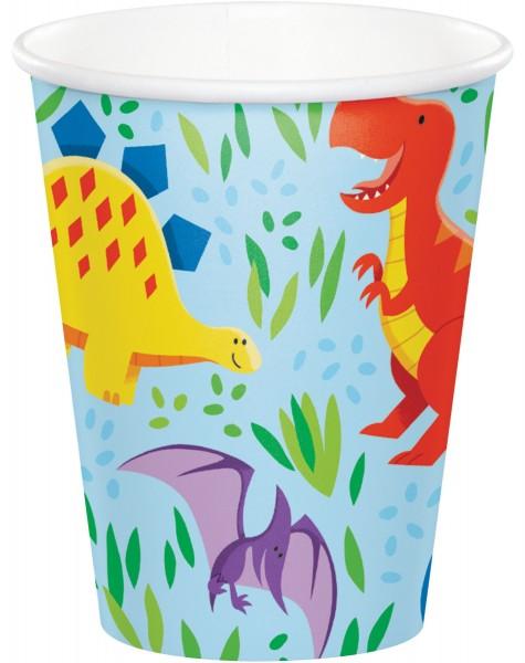 8 Dino Kinder Pappbecher 237ml