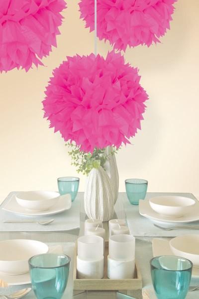 Pompon Elli neon różowy 30 cm