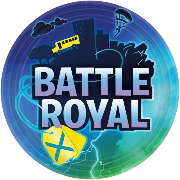 8 piatti Battle Royal Birthday 23cm