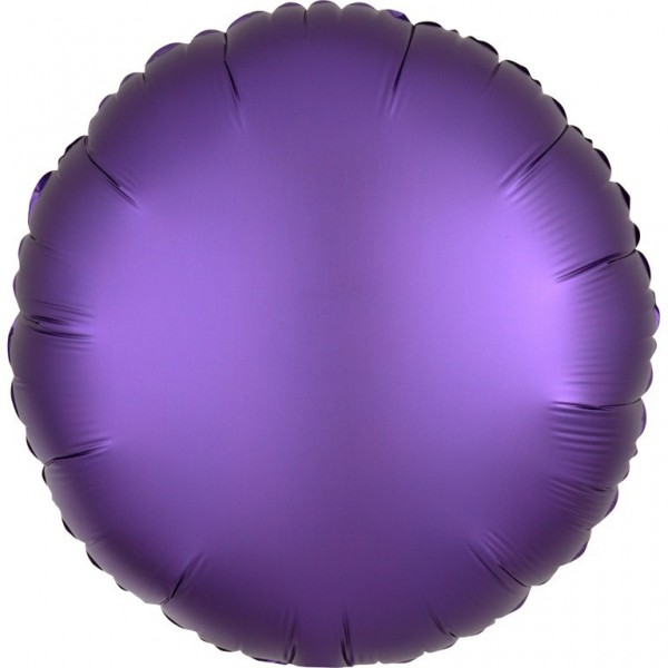 Folienballon Rund Satinoptik lila