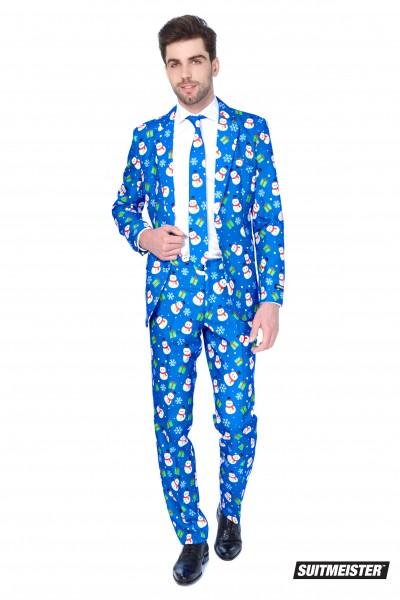 Suitmeister party suit Christmas Blue Snowman
