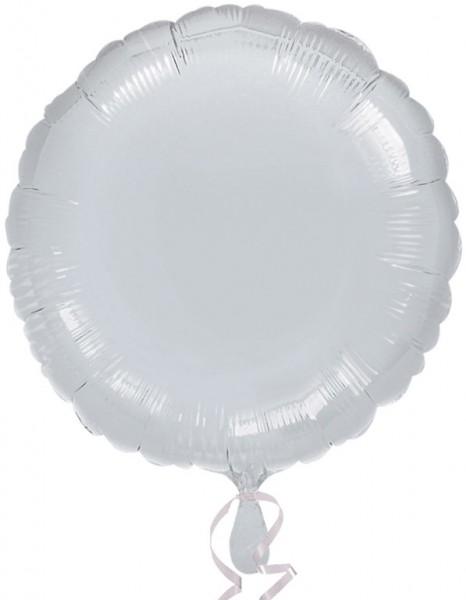 Round foil balloon silver 43cm