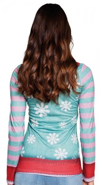 Camicia Natale Viennese Wonderland Dachshund per le donne