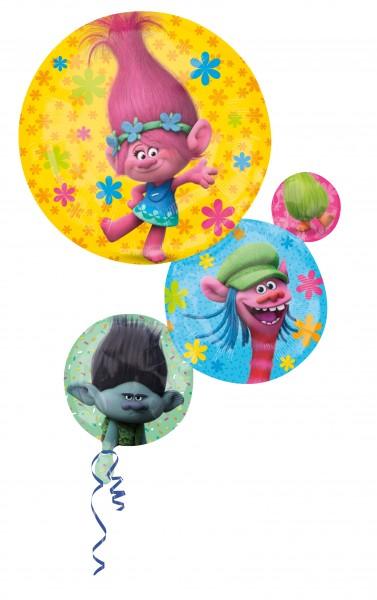 Folienballon Lustige Trolls Familie