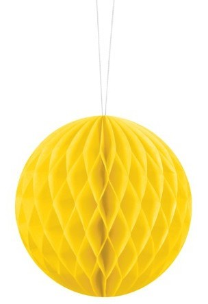 Honeycomb ball Lumina yellow 10cm