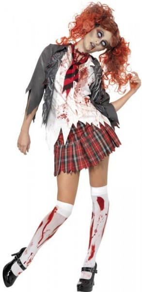 Costume da studentessa zombie