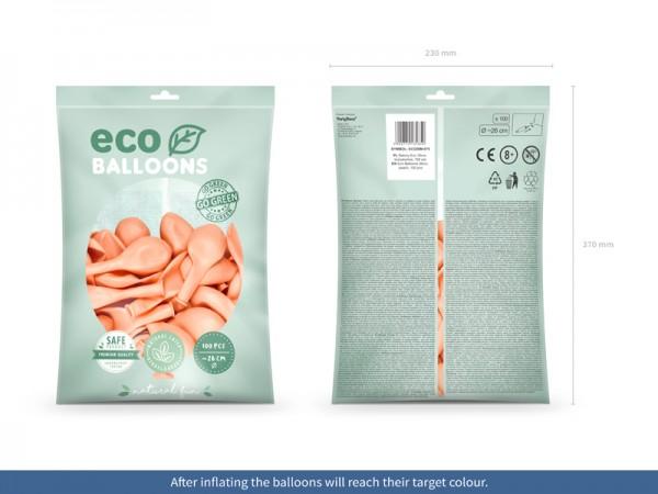 100 Eco metallic Ballons pfirsich 26cm