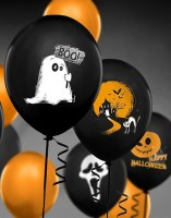 50 Halloween Luftballons Gruselmotive 30cm