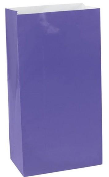 12 Lila Geschenktüten Basel 16,5cm