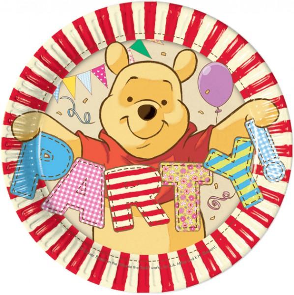 8 Party Winnie Puuh Pappteller 20cm