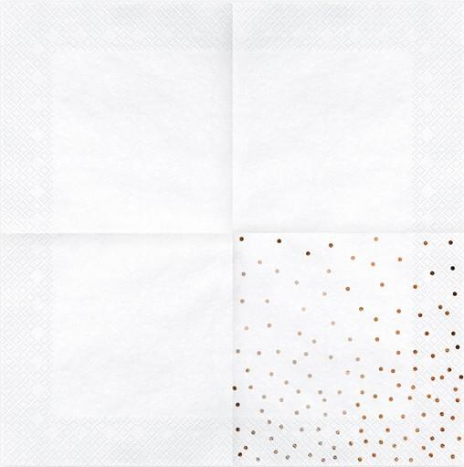 20 serviettes blanches Party Queen 33cm