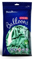10 Partystar metallic Ballons mint 27cm