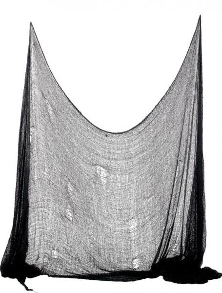 Tessuto spaventoso Nightmare nero 75 x 300 cm