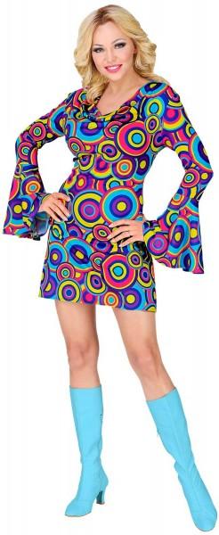 Kolorowy kostium z lat 70 dla kobiet